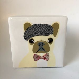 Rae Dun Artisan Collection French Bulldog Block